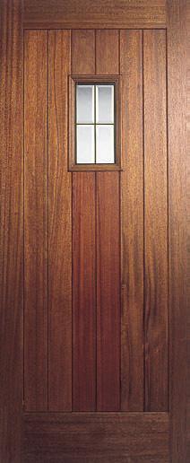 External hardwood glazed doors front and back for Hardwood back doors
